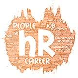 Vetor hora ou gestão de carreira dos recursos humanos Imagens de Stock
