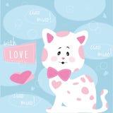 """Vetor ilustração do †manchado bonito do gato da """" Foto de Stock Royalty Free"""
