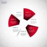 Vetor infographic ilustração stock