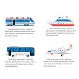 Vetor infographic da estrada e do ar do transporte ilustração stock