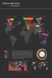 Vetor infographic do detalhe. Mapa do mundo e Informati Fotos de Stock Royalty Free