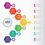 Vetor infographic do processo da tecnologia ou da educação com 7 ste ilustração stock