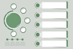 Vetor infographic moderno na máscara desvanecida da cor verde ilustração do vetor