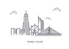 Vetor inline da ilustração de Banguecoque Fotos de Stock Royalty Free