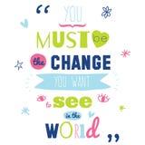 Vetor inspirado e inspirador das citações Imagem de Stock Royalty Free