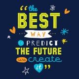 Vetor inspirado e inspirador das citações Imagem de Stock