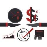 Vetor isolado conceito do sócio do negócio de negócio Imagens de Stock Royalty Free