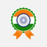 Vetor isolado do emblema da bandeira de india Foto de Stock