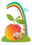 Vetor isolado na imagem branca No assunto do fruto orgânico Imagens de Stock