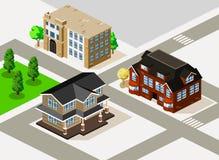 Vetor isométrico da casa Imagem de Stock Royalty Free