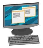 Vetor isométrico do computador Imagem de Stock Royalty Free