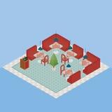 Vetor isométrico do restaurante Imagem de Stock Royalty Free