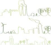 Vetor - Linha Verde contínua Ilustração Royalty Free
