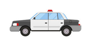Vetor liso do estilo moderno do esporte do carro de polícia Fotografia de Stock Royalty Free