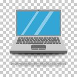 Vetor liso do laptop Foto de Stock Royalty Free