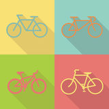 Vetor liso do projeto do ícone da bicicleta Foto de Stock