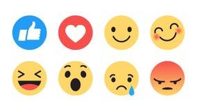 Vetor liso Emoji moderno do projeto ilustração stock