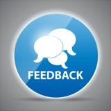Vetor lustroso do feedback do ícone do computador do brilho Imagem de Stock