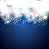 Vetor lustroso do fundo da estrela do Natal Fotos de Stock