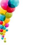 Vetor lustroso do fundo dos balões da cor Fotos de Stock