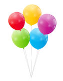 Vetor lustroso do fundo dos balões da cor Foto de Stock Royalty Free