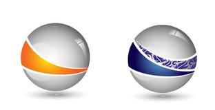 vetor lustroso do logotipo da empresa da bola 3D ilustração royalty free