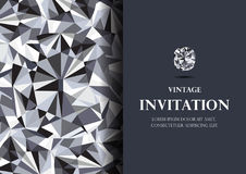 Vetor luxuoso do fundo do cartão do convite do diamante ilustração royalty free