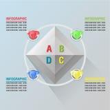 Vetor luxuoso gráfico do plano do fulgor da informação do diamante Ilustração Stock
