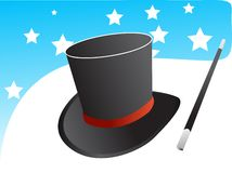 Vetor mágico do chapéu Foto de Stock Royalty Free