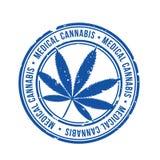Vetor médico do selo do cannabis Imagens de Stock Royalty Free