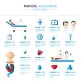 Vetor médico e conceito de Infographics da saúde Fotos de Stock