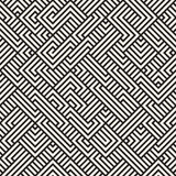 Vetor Maze Geometric Pattern irregular sem emenda Fotografia de Stock