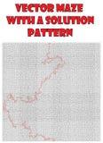 Vetor maze pattern, llabyrinth background Stock Photography