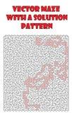 Vetor maze pattern, llabyrinth background Royalty Free Stock Photos