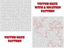 Vetor maze pattern, llabyrinth background Royalty Free Stock Photography