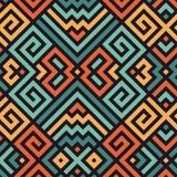 Vetor Maze Pattern sem emenda para o projeto de matéria têxtil Fotografia de Stock Royalty Free