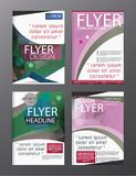 Vetor moderno CMYK A4 moderno do folheto do polígono Imagens de Stock Royalty Free