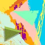 Vetor moderno criativo na moda da arte gráfica Isolado Imagem de Stock