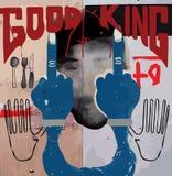 Vetor moderno do gráfico da colagem do estilo da forma do projeto da arte do cartaz Foto de Stock Royalty Free