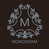 Vetor monocromático do luxo, o simples e o elegante Fotografia de Stock Royalty Free