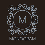 Vetor monocromático do luxo, o simples e o elegante Imagem de Stock