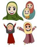 Vetor muçulmano da menina dos desenhos animados Fotos de Stock
