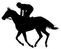 Vetor muito detalhado de um jóquei e de um cavalo Imagens de Stock Royalty Free