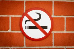 Vetor n?o fumadores fotografia de stock royalty free