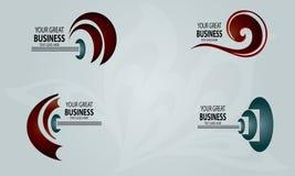 Vetor novo abstrato dos logotipos Fotografia de Stock Royalty Free