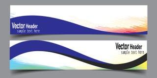 Vetor novo da bandeira abstrata do negócio da onda Fotografia de Stock Royalty Free