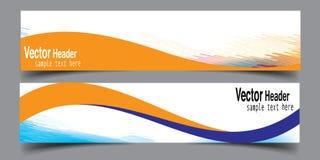 Vetor novo da bandeira abstrata do negócio da onda Fotos de Stock