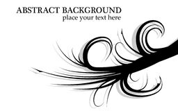 Vetor ondulado abstrato preto e branco do fundo dos ramos Fotografia de Stock Royalty Free