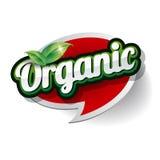 Vetor orgânico da etiqueta Fotografia de Stock Royalty Free