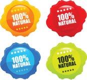 Vetor orgânico natural do selo de 100% Fotos de Stock
